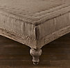 "Deconstructed 72"" French Napoleonic Ottoman Antiqued Cotton"