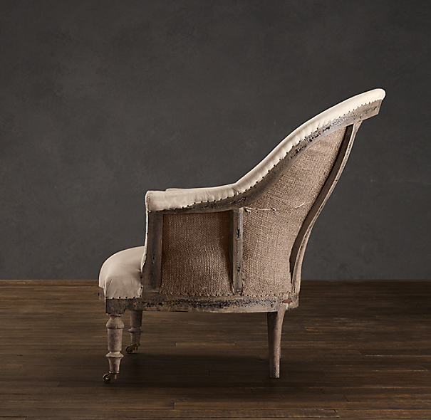 Deconstructed French Napoleonic Chair Antiqued Cotton