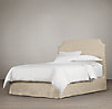 "Belgian Slipcovered Slope 58"" Headboard with Bed Skirt"