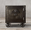 19th C. Mercantile Iron Safe Side Table
