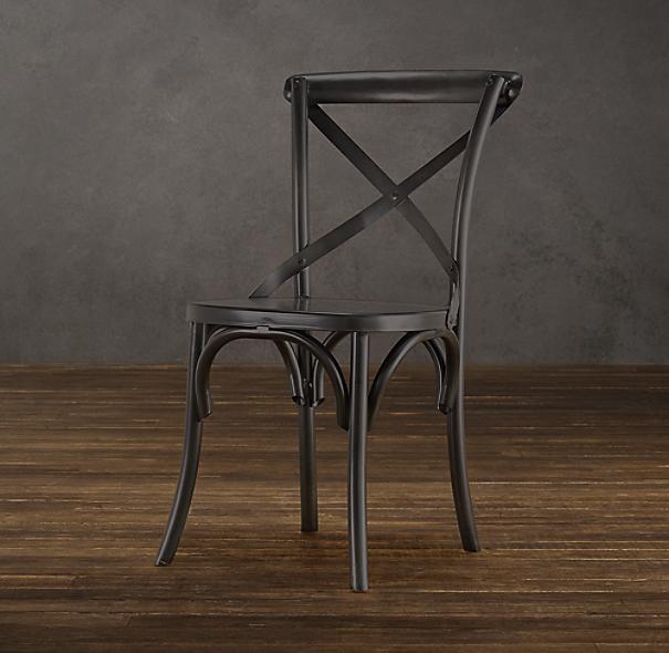 metal madeleine side chair