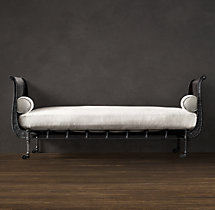 19th C. French Empire Metal Daybed