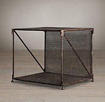 1920s French Metal Side Table