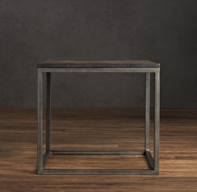 LookAlikes Clearance Restoration Hardware Metal Parquet Side Table