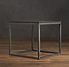 Metal Parquet Side Table (Set of 2)