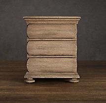 "30"" 19th C. Swedish Rounded Oak Nightstand"
