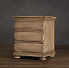 19th C. Swedish Rounded Oak Nightstand