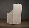 Slipcovered Camelback Dining Armchair Slipcover