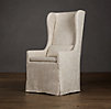 Slipcovered Wingback Dining Armchair Slipcover