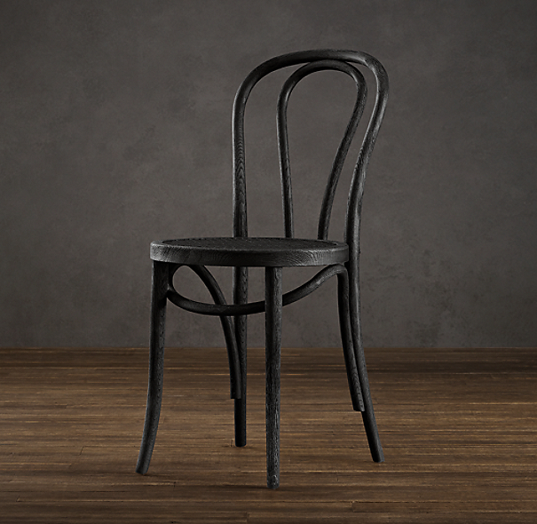 French caf side chair for Restoration hardware metal chair