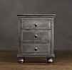 "22"" Zinc Nightstand (Set of 1 Open and 1 Closed)"