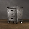 "22"" Zinc Closed Nightstand"