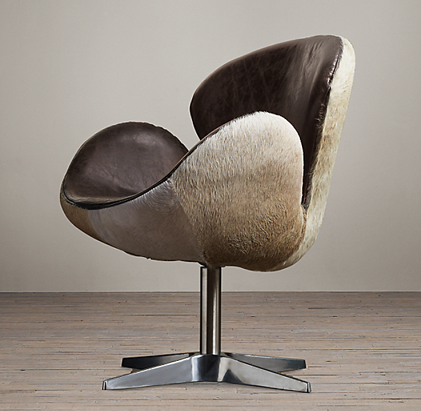 Devon Hair-on-Hide Back Chair without Casters