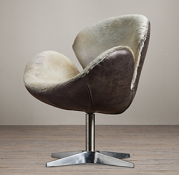 Devon Hair-on-Hide Front Chair without Casters