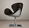 Devon Spitfire Leather Chair without Casters