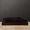 Artisan Leather Trays Rectangle Chocolate