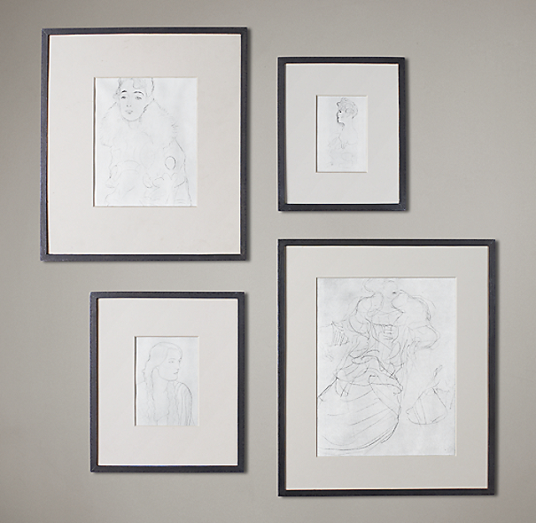 Black Metal Narrow Gallery Frames