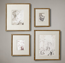 Weathered Oak Gallery Frames - Narrow