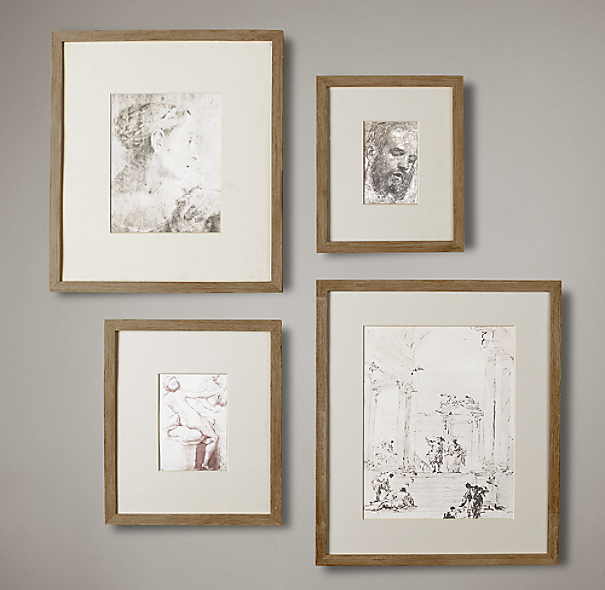 Weathered Oak Narrow Gallery Frames