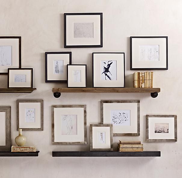 Weathered Oak Narrow Gallery Frames