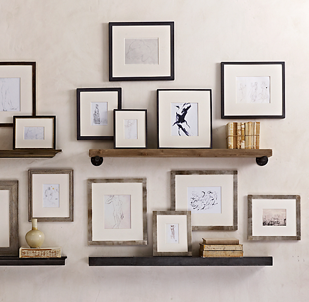 Weathered Oak Gallery Frames - Stepped