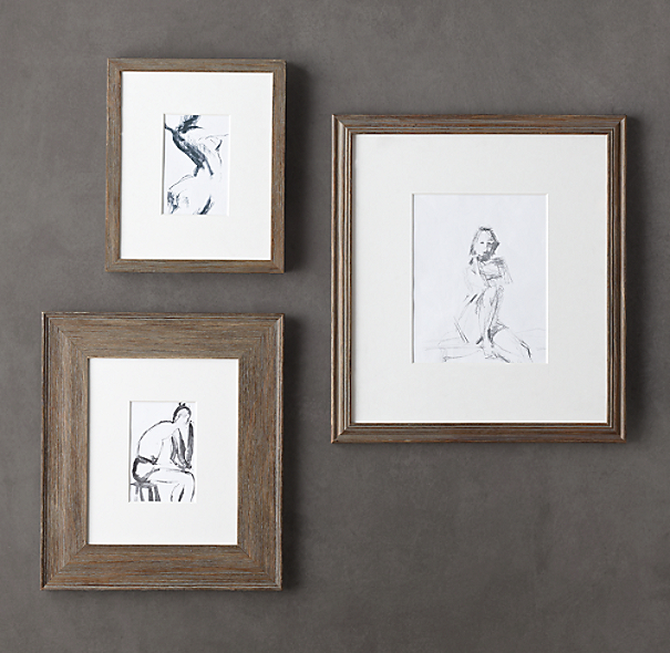 Weathered Oak Gallery Frame Collection