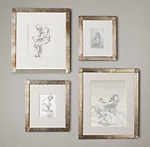 Antiqued Nailhead Gallery Frames Zinc