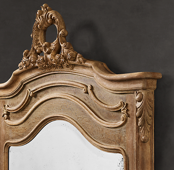 Carved Pediment Mirror