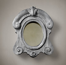 European Zinc Dormer Mirror Crown