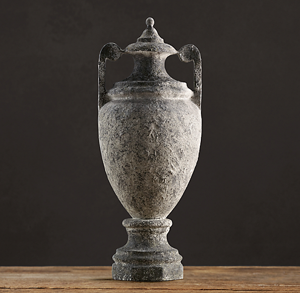 Weathered Stone Greek Urn