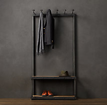 Coat Rack Bench 3'