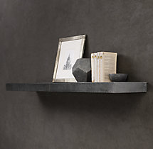 Zinc Wall Shelf Straight