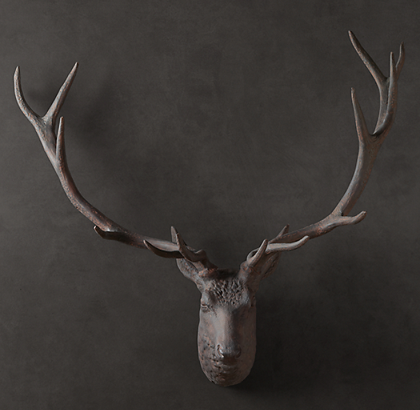 1890 Stag Head - Rust