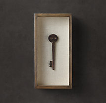 Shadowboxed Vintage Key 1