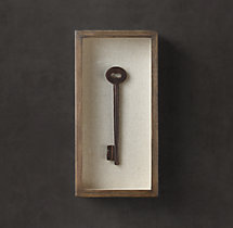 Shadowboxed Vintage Key 2