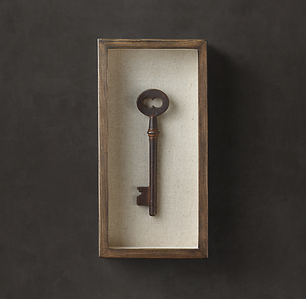 Shadowboxed Vintage Key 5