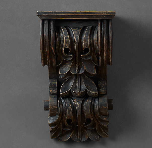 Beaux-Arts Hand-Carved Corbel