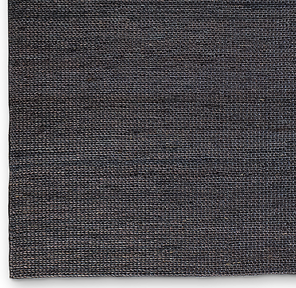 Hand-Braided Jute Rug Swatch - Charcoal