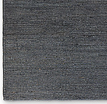 Hand-Braided Jute Rug Swatch - Navy