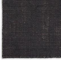Distressed Wool Rug Swatch - Charcoal