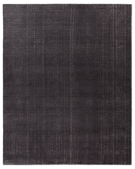 Distressed Wool Rug - Charcoal