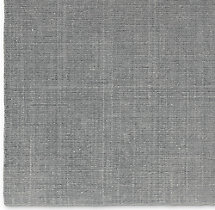 Distressed Wool Rug Swatch - Platinum