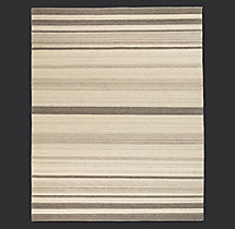 Flatweave Variegated Stripe Rug Swatch