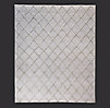 Diamante Flatweave Linen Rug Swatch - Grey/Grey
