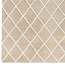 Diamante Flatweave Linen Rug Swatch - Natural/Cream
