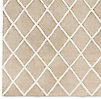Diamante Flatweave Linen Rug Swatch - Natural/Light Grey