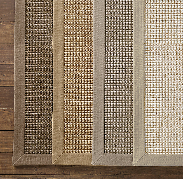 Belgian Looped Wool Sisal Rug Swatch