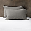 Vintage-Washed Jersey Bedding Pillowcases (Set of 2)