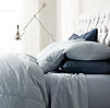 Vintage-Washed Chambray Pillowcases (Set of 2)