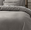 Stonewashed Belgian Linen Satin-Stitch Duvet Cover